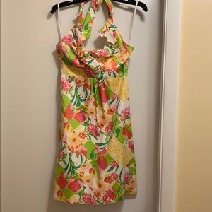 Pretty floral Lilly Pulitzer halter dress